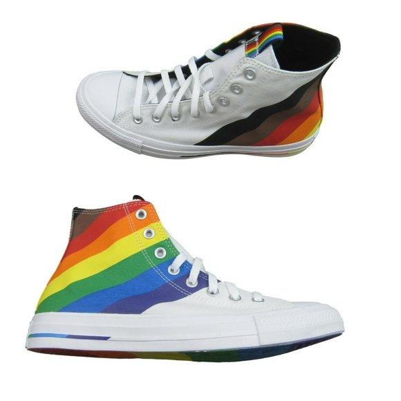 Converse Chuck Taylor HI Top Pride Rainbow Shoes